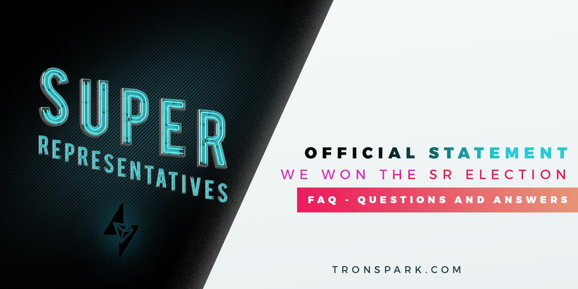 FAQ's - Tron Spark