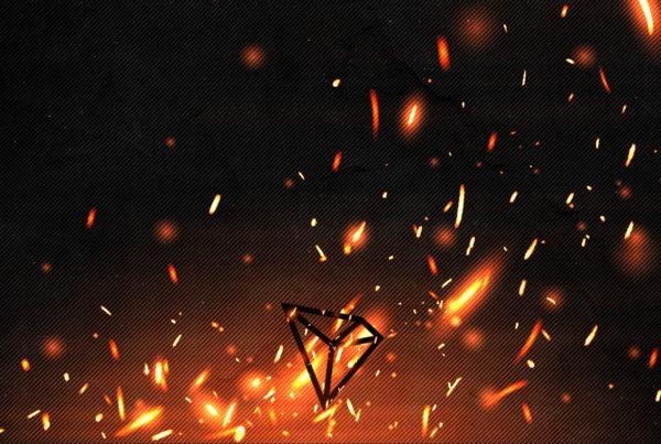 TRX Coin Burn BG