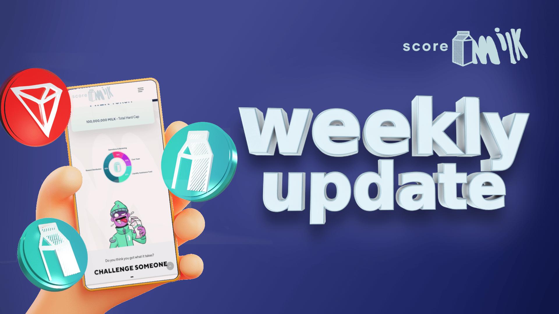 Score Milk Update, August 1, 2021